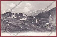 SONDRIO CHIESA IN VALMALENCO 82 PRIMOLO Cartolina viaggiata 1908