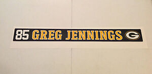 """Greg Jennings FATHEAD Player Nameplate Sign 34"""" x 3.5"""" Packers Wall Graphics"""
