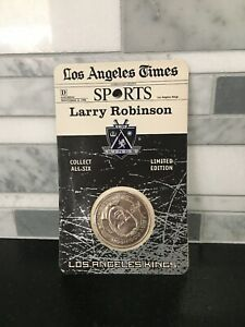 Larry Robinson Los Angeles Kings Commemorative Silver Coin 1998