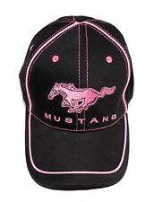 FORD MUSTANG BLACK AND PINK HAT NEW SOLD EXCLUSIVELY HERE LICENSED BY FORD
