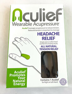 1 pack Tension and Headache Reliever Hand Acupressure Black
