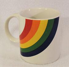 New listing Vintage 1984 F.T.D.A. Rainbow Pride Coffee Mug Tea Cup made in Korea 12oz
