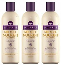 Aussie Miracle Nourish Shampoo for Nourishing & Protecting Damaged Hair 3X 300ML
