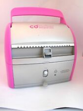 New listing DiscGear Cd Locker Holds 40 Discs Opens By Your Voice Pink and Silver Locks!