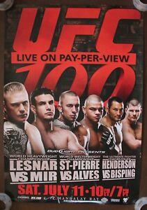 Official UFC 100 Lesnar vs Mir Poster 27x39 (Near Mint)