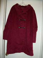 WOMENS  SHORT COAT MILITARY STYLE SIZE 28  BY JESSICA LONDON POMEGRANATE COLOR