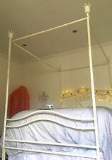 Rare Original USA Disney Store Girls White Princess 4 Poster Double Bed Hamptons