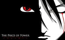 Poster A3 Naruto Shippuden Uchiha Sasuke Sharingan El Precio Del Poder 02