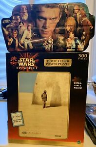 Star Wars Episode 1 Movie Teaser Poster Puzzle 300 Pc + 500 Heroes in Tin!