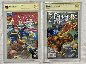 🔥 X-MEN #1 (9.8) & FANTASTIC FOUR #1 (9.6) - SIGNED BY JIM LEE - CBCS NOT CGC🔥