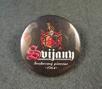 Antiques Pin Badge Svijany 1564 Private brewery Czech beer bier Breweriana Black