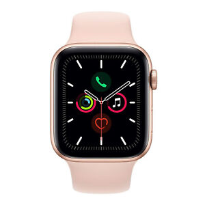 Apple Watch Series 5 - GPS Only, 44mm, Gold Aluminum Case, Pink Sand Sport Band
