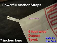 9' Tyvek Homewrap Groundcloth Hiking Camping Tent Footprint Tarp & ANCHOR STRAPS