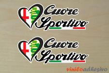 PEGATINA STICKER VINILO Cuore Sportivo ref2 Alfa Romeo aufkleber adesivi