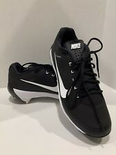 Nike Air Max Flywire Mens METAL Baseball Cleats Size 11 Black and White