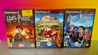 3 Harry Potter Games Lot - PS2 PlayStation 2 - Quidditch, Goblet Fire, Azkaban