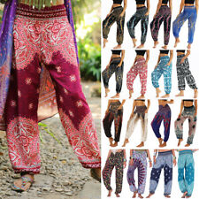 Men Women Indian Baggy Gypsy Harem Pants Yoga Cotton Floral Boho Loose Trousers