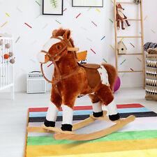 Schaukelpferd Kinder Schaukeltier Plüsch Schaukel Pferd Schaukelspielzeug braun