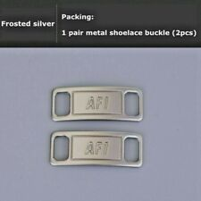 Nike Af1 Replacement Lace Tags Shoe badge Silver Air Force Ones Dubraes ⚡� Best