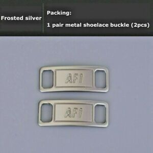 Nike AF1 Replacement Lace Tags Shoe badge SILVER Air Force Ones Dubraes ⚡️ BEST