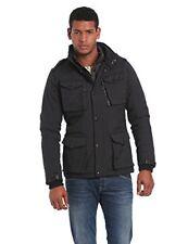 Schott NYC Field - chaqueta Parka de manga larga para hombre color negro Ta...