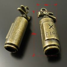 40X Vintage Style Bronze Tone Alloy  Extinguisher Pendant Charms 20*8*6mm