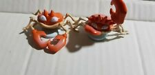 "Vintage  Pokemon Auldey TOMY Toy Figure 2"" KRABBY AND KINGLER FREESHIP!"