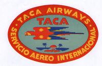 Airline label luggage TACA South America pretty    #067
