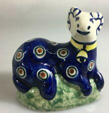 "Unikat Polish Pottery Ram Figurine 4"" Boleslawiec Poland Signed Handmade"