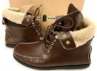 CAR SHOE by PRADA Sneaker Schuhe Boots braun Leder Lammfell Leather NEU NP 390€!