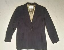 Country Casuals wool blend grey stripy trouser suit Size 12