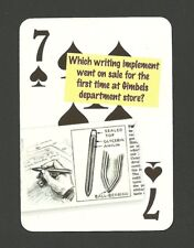Author Writer Ballpoint Pen First Sale Gimbels Department Store Neat Card #5Y4