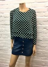 Paisie Beautiful Racing Green Tiered Cropped Blouse UK 10 New W Tags