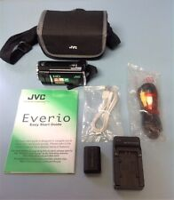 JVC Everio GZ-HM30BU AVCHD Camcorder w/ new battery JVC, wall charger & case