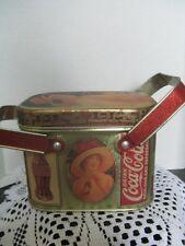 Coca Cola Square Tin with handles