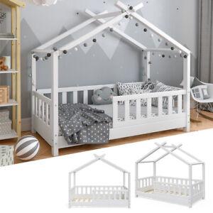 NeedSleep Hase Rausfallschutz Kinderbett Komplett 70x140, Wei/ß Kinder ab 2 jahren Montessori Kinderzimmer Funktionsbett Bett mit Lattenrost Schublade Matratze 70x140 70x160 M/ädchen Junge