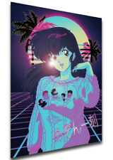 Poster Vaporwave - Cara Dolce Kyoko - Maison Ikkoku - Kyoko Otonashi