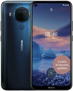 """New Nokia 5.4 Blue 6.39"""" 64GB Dual SIM 4G Android 10 Sim Free Unlocked"""