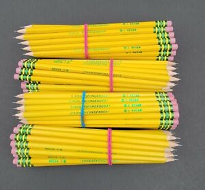 Dixon Ticonderoga Pencil Bulk Lot Of 100 HB #2 Sharpened Premium Wood Latex Free