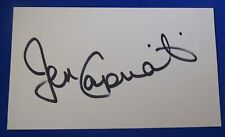 JEN CAPRIATI autograph signed 3 by 5 index Tennis Hall of Fame