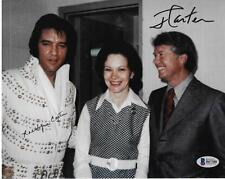 President Jimmy & Rosalynn Carter Dual Signed 8X10 Photo Elvis Beckett Coa Bas