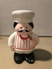 Avon Vintage Chef André Mustache Kitchen Wooden Spoon Utensil Holder