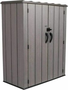 Lifetime 60209 Vertical Storage Shed 53 Cubic Feet Roof Brown 74 X 142 X 174 Cm