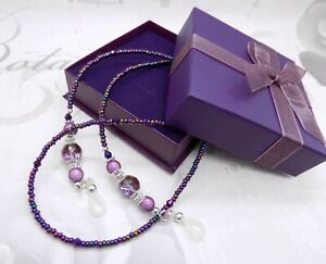 Purple Glasses Chain Reading Sunglasses Holder Spectacle Neck Cord Lanyard