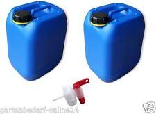 2 x 10 L Kanister blau Camping Trinkwasserkanister dicht + Auslaufhahn DIN61