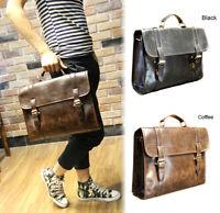 Men's Business Case Briefcase PU Leather Shoulder Suitcase Messenger Laptop Bag
