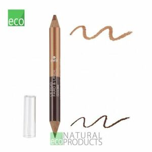 Avril Organic 2-in-1 Eyeshadow & Liner Earth Brown / Iridescent Copper