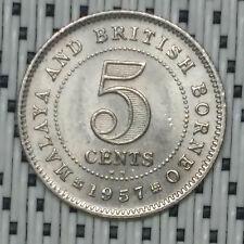 *SUPERB Grade* 1957KN - Malaya - 5 Cents Elizabeth II #CBQV
