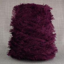 Super Suave 4 capas Pluma Hilo 500g Cono 10 Bolas Púrpura Elegante Pestañas Tejer