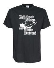 Ich fresse Eisen... - T-Shirt, Funshirts, große Größen und Übergrößen (UGRBL076)